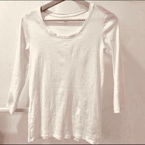 Uniqlo cotton white Tee S